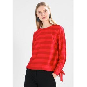 NEW Banana Republic Size M Womens Top  Red Striped